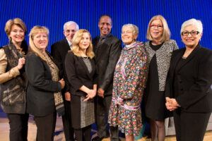 Patricia with all of the 2015 Purpose Prize Recipients alongside Jane Pauley